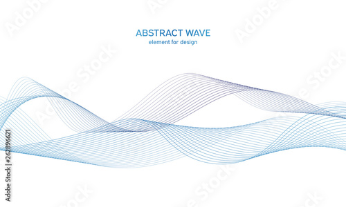Abstract colorfull wave element for design Wallpaper Mural