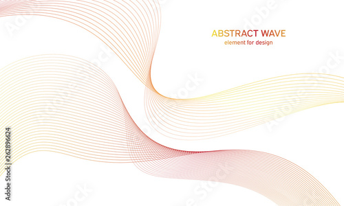 Foto auf Leinwand Abstrakte Welle Abstract colorfull wave element for design. Digital frequency track equalizer. Stylized line art background.Vector illustration.Wave with lines created using blend tool.Curved wavy line, smooth stripe