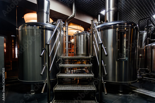 Canvas Craft beer production line in private microbrewery