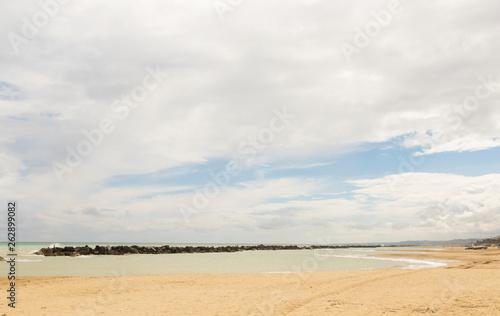 Poster de jardin Desert de sable Panorama on the beach in winter time