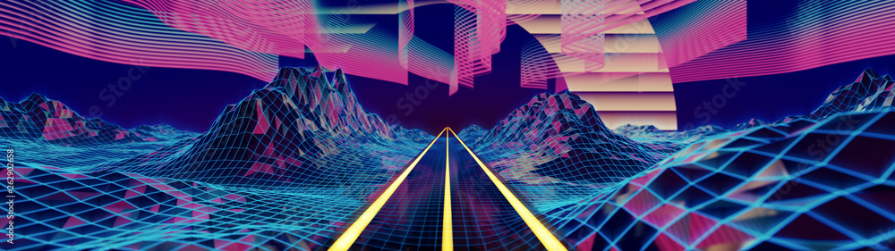Fototapety, obrazy: A road into the cyber neverlands