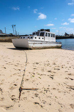 Old Grugy Fishing Boat With Lo...