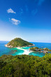 blue sky and clear cloud on nang yuan island at koh tao thailand in a summer day on beautiful nature seascape background