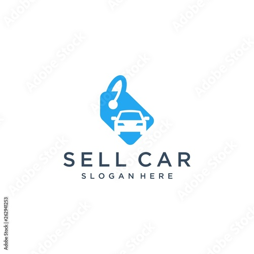 logo design car sales or price tags with cars - Buy this