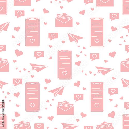 Romantic pattern. Birthday, Valentine's day