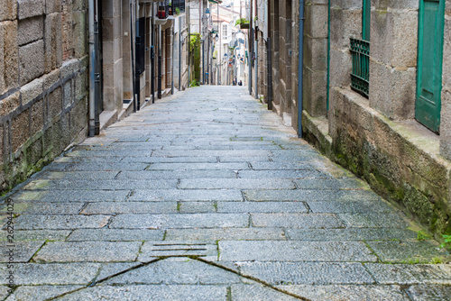 RIBADAVIA, OURENSE - Detail of the historical old town, old Jewish quarter.