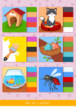 Educational Children Game. Toddlers Activity.