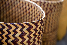 Close Up Texture Of Basketry.