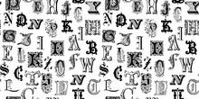 Vintage Engraved Letters Seaml...