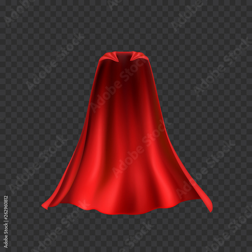 Cape set isolated on transparent background  Red superhero