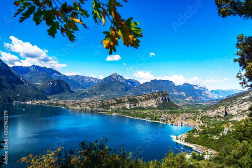 Obraz na plátně In the mountains at lake garda 1