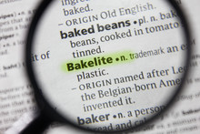 The Word Or Phrase Bakelite In A Dictionary.