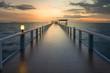 Cool male bridge, sunset
