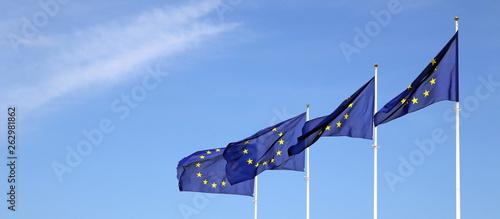 Fotomural europaflaggen banner