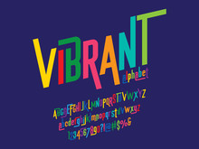 Vector Of Modern Colorful Alphabet Design