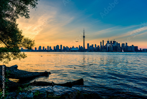Fotografia  Toronto skyline at night, Ontario, Canada