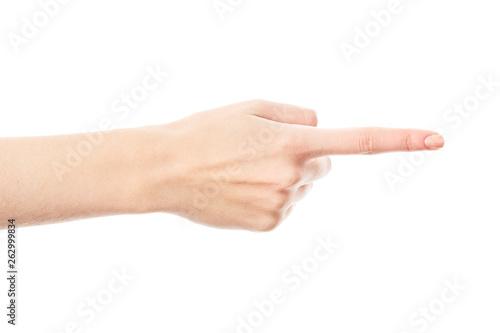 Fotografie, Tablou  Female hand isolated on white background
