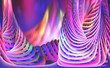 Leinwandbild Motiv Abstract purple-blue background with twisted elements. 3D illustration in modern design for fresh posters. Clean and colorful