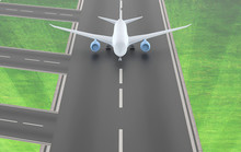 Commercial Airplane On Runway....