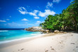 beautiful paradise tropical beach,palms,rocks,white sand,turquoise water, seychelles 18