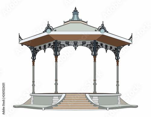 Pretty bandstand Canvas Print