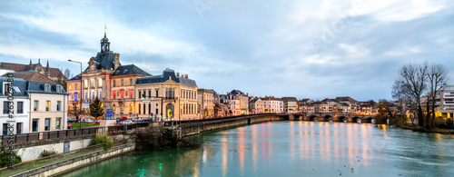 Fototapety, obrazy: Panorama of Meaux town with the Marne river in France