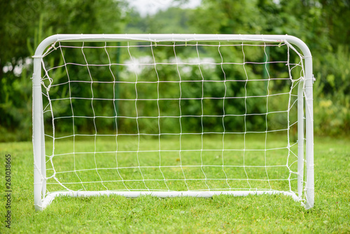 Photo Portable steel mini goal for amateur or youth football (soccer) players