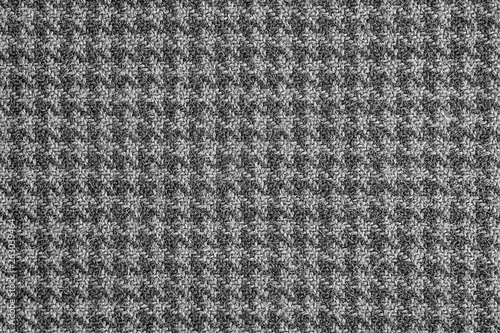 Photo  Classic houndstooth cloth pattern texture background.