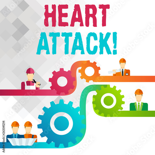 Photo Writing note showing Heart Attack
