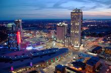 Niagara Falls Casino And Resorts At Sunset, Canada