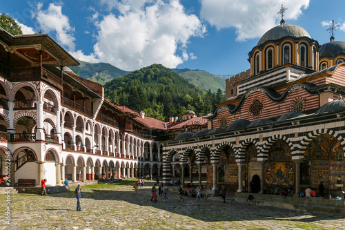 The Orthodox Rila Monastery, a famous tourist attraction and cultural heritage m Canvas-taulu