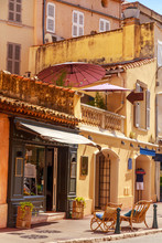 A View Of Streets And Lanscape Of Saint Tropez, France