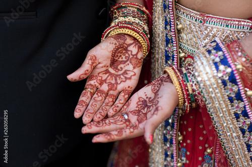 Bridal mehndi on hands (henna) Wallpaper Mural