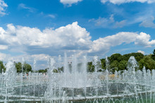 Fountain In The City Park Tsaritsyno, Moscow, Russia,