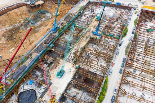 Construction site Fototapet