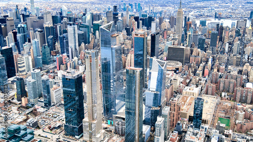 Tablou Canvas NEW YORK CITY - DECEMBER 3, 2018: Aerial view of Midtown skyscrapers