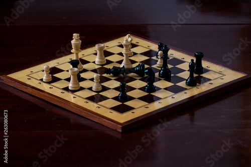 Slika na platnu chessboard with check mate