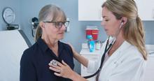 Female Doctor Using Stethoscop...