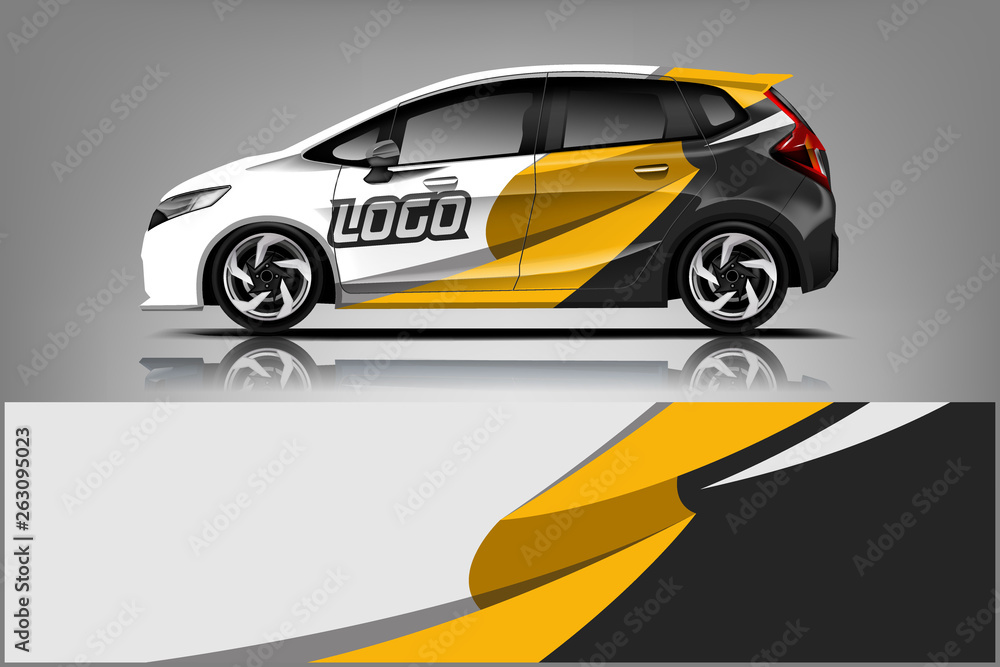 Fototapety, obrazy: Car wrap design, for branding, services, company.