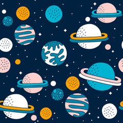 seamless pattern with stars...