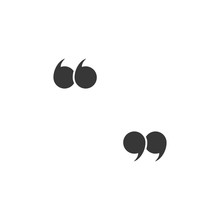 Quote Marks. Quotes Icon. Speech Symbol. Black Colored Quote Icon. Vector