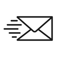 Send Message Icon On White Background. Vector