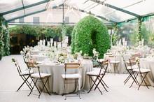 An Elegant Italian Wedding Reception In A Clear Marquee