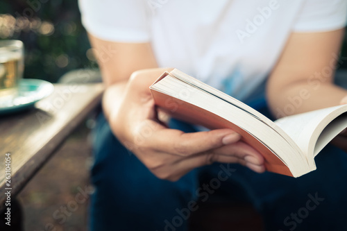 Photo  Reading in the Garden