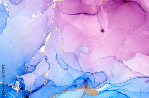 Poster de jardin Bar Fluid Art . Abstract colorful background, wallpaper. Mixing acrylic paints. Modern art. Marble texture. Alcohol ink colors translucent