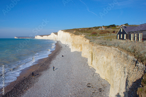 Photo  White cliffs at Birling gap, South England