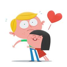 Girl Hugging A Boy