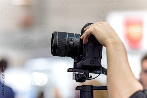 Fototapeta Video shooting with camera obraz na płótnie