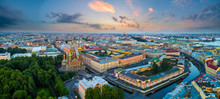 Saint Petersburg. The Temple Of Saving Blood. Russia Panorama Of St. Petersburg. Griboyedov Canal. Streets Of Petersburg. Architecture Cities Of Russia. Panorama Of The Russian City