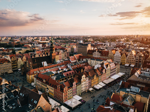Wrocław Rynek Panorama z powietrza